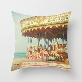 Seaside Carousel Throw Pillow