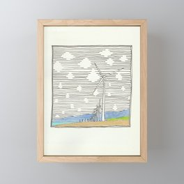 Bangui Wind Farms, Ilocos Norte, Philippines Framed Mini Art Print
