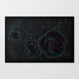 three velvet tulips Canvas Print