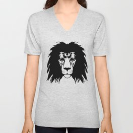Lion Illustration Unisex V-Neck