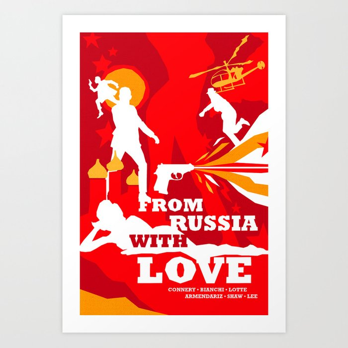 James Bond Golden Era Series :: From Russia with Love Art Print