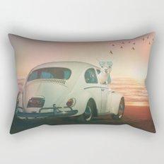 NEVER STOP EXPLORING A SUNDOWN Rectangular Pillow