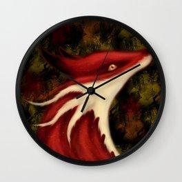 Fox Dragon Wall Clock