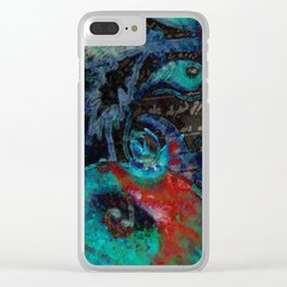 Armenian movies/pomegranate/texture Clear iPhone Case