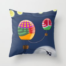 BALLOON NIGHT Throw Pillow