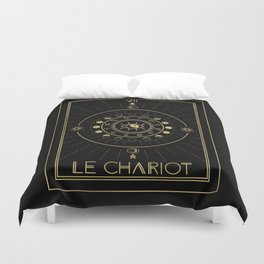 Le Chariot or The Chariot Tarot Duvet Cover