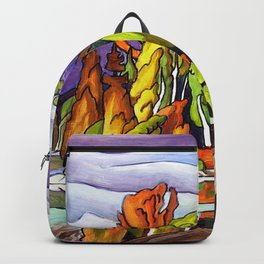 AJ's Little Island by Amanda Martinson Backpack