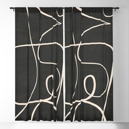 Abstract line art 49 Blackout Curtain