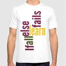 Learn White MEDIUM Mens Fitted Tee