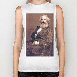 Portrait of Karl Marx by John Jabez Edwin Mayal Biker Tank