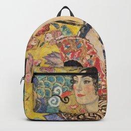 WOMAN WITH FAN - GUSTAV KLIMT Backpack