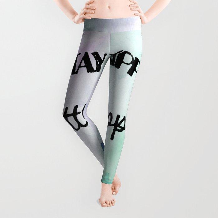 Stay trippy little hippie watercolor Leggings