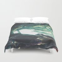 trout Duvet Covers featuring Yinzer Trout by Mt Zion Press