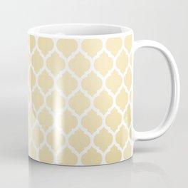 Elegant faux gold white moroccan quatrefoil pattern Coffee Mug