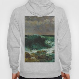 """Gustave Courbet """"The Wave 1870 private"""" Hoody"""