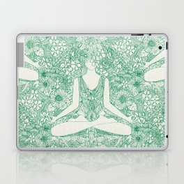 lotus garden vintage green Laptop & iPad Skin