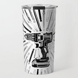 Art Power Tools Drill Bit Set Doodle Travel Mug