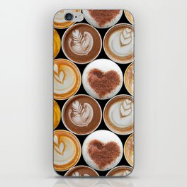 Latte Polka Dots in Black iPhone Skin