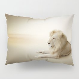 White Lion Pillow Sham