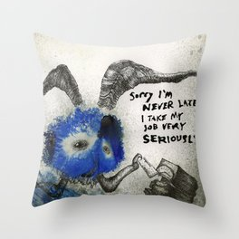 FUNK MASCOT Throw Pillow