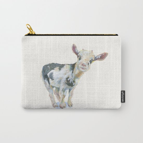Smiley  Goat Carry-All Pouch