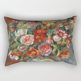 "Pierre-Auguste Renoir ""Vase de fleurs"" Rectangular Pillow"