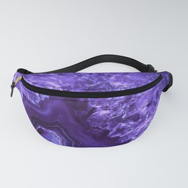 Ultra Violet Agate Mineral Gemstone Fanny Pack