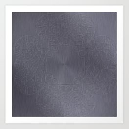 Cool Brushed Metal with a Stamped Design Art Print