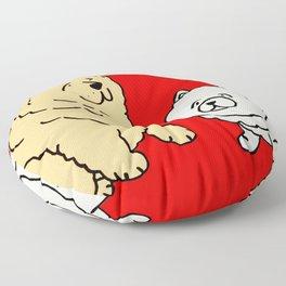 Chow Chow Dog Couple Floor Pillow