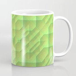 Green/Tan Pattern with a Raised Appearance Coffee Mug