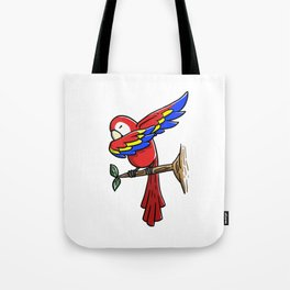 Funny Dabbing Parrot Bird Pet Dab Dance Tote Bag