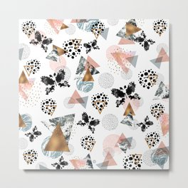 Abstract butterfly and geometric Metal Print