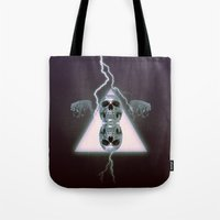 metallic Tote Bags featuring Metallic by Elva Salinas