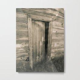 A Door to the Past, Sepia Metal Print
