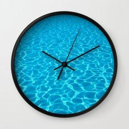 Swimming pool water sun reflection. Ripple Water. Wall Clock