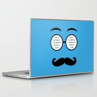 geek Laptop & iPad Skins featuring Geek by Nora