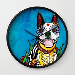 Gilroy the Boston Terrier Wall Clock