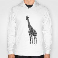 ornate Hoodies featuring Ornate Giraffe by ZantosDesign
