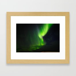Icelandic northern lights Framed Art Print
