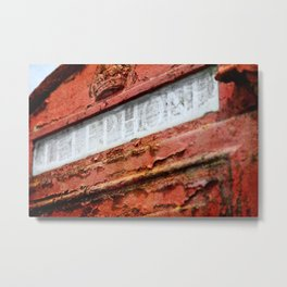 Old Red Metal Print