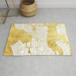 Seattle Map Gold Rug