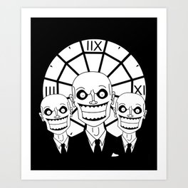 Hush - The Gentlemen (Black) Art Print