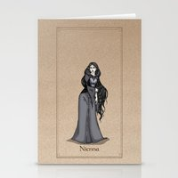 valar morghulis Stationery Cards featuring Nienna by wolfanita