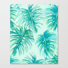 Paradise Palms Mint Canvas Print