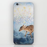 antlers iPhone & iPod Skins featuring Antlers by Lucy Yu { Artwork }