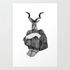John (B&W) Art Print