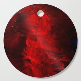 Red Abstract Paint Cutting Board