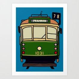 Melbourne Tram - No.78 to Prahran Art Print
