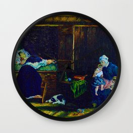 The Last Breath (after Jozef Israels) Wall Clock