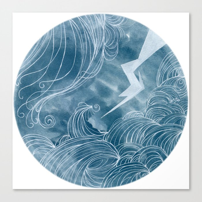 The wave in a bubble Canvas Print